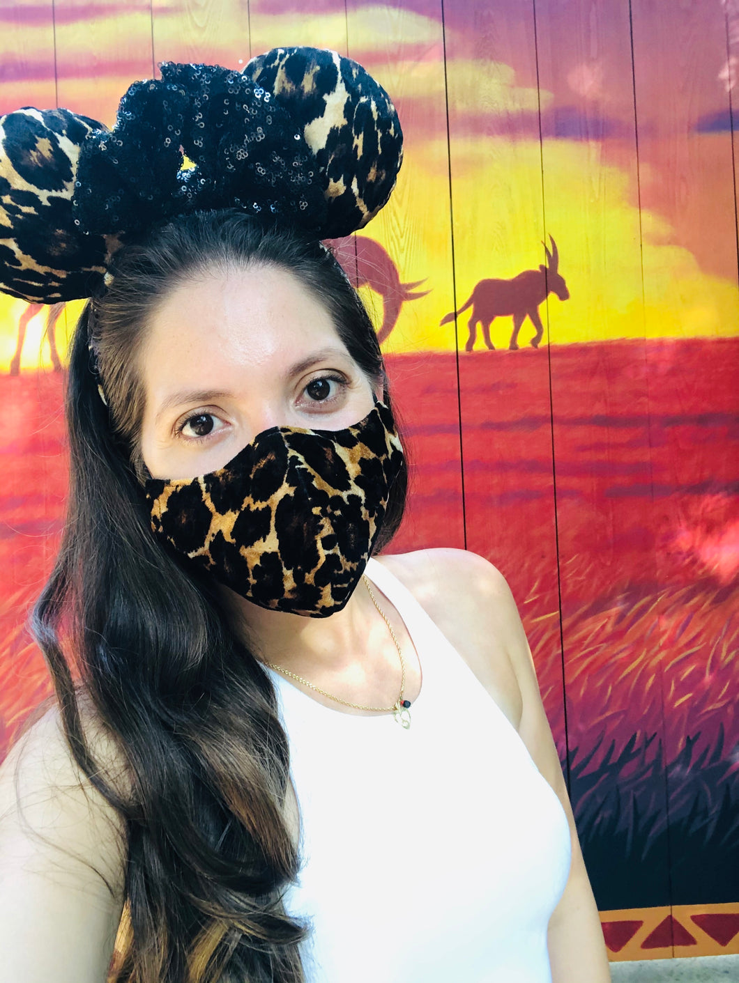 Cheetah Mask & Ears combo