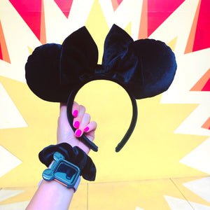 Black Velvet Minnie Ears