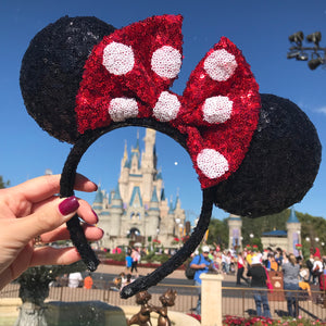 Classic Minnie Ears with Dots