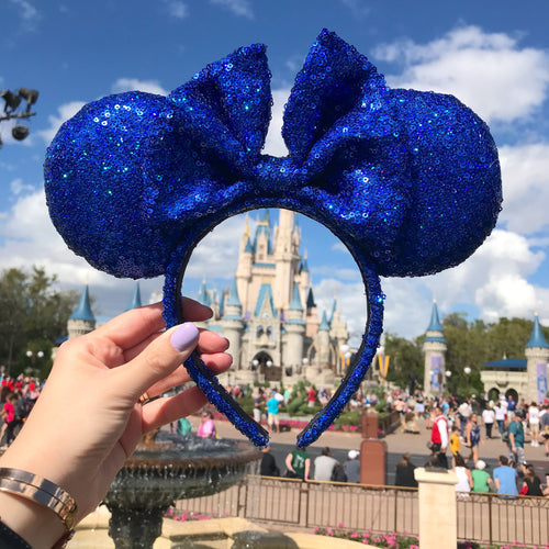Magical Blue Holographic Minnie Inspired ears