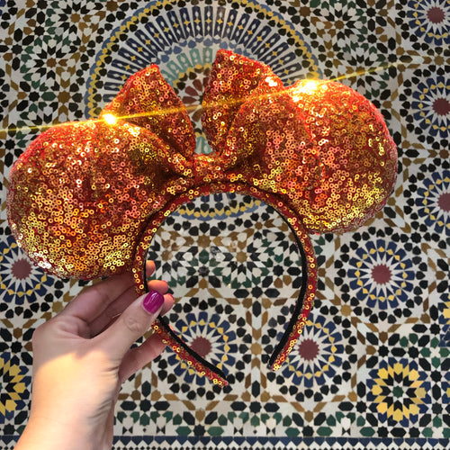 Fire Red Iridescent Minnie Ears