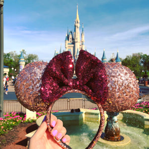 Rose Wine Inspired Minnie Ears