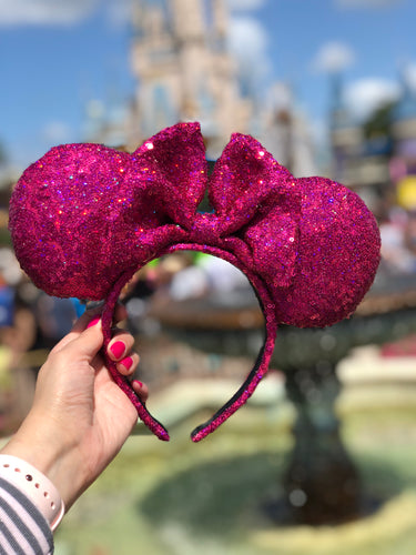 Holographic Pink Minnie Ears
