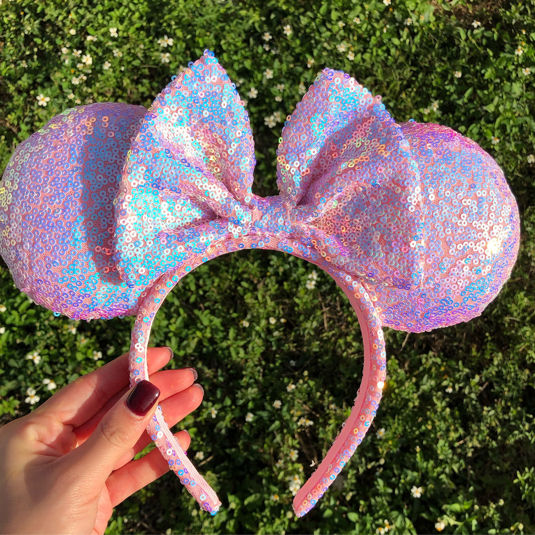 Sparkly Pink Minnie Ears