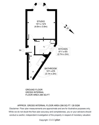 2D Floor Plan from Sketch Provided (0 - 500 sq ft | 0 - 50 sq Metres)