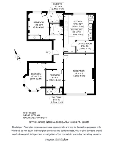 2D Floor Plan from Sketch Provided (1001 - 1500 sq ft | 100 - 150 sq Metres)