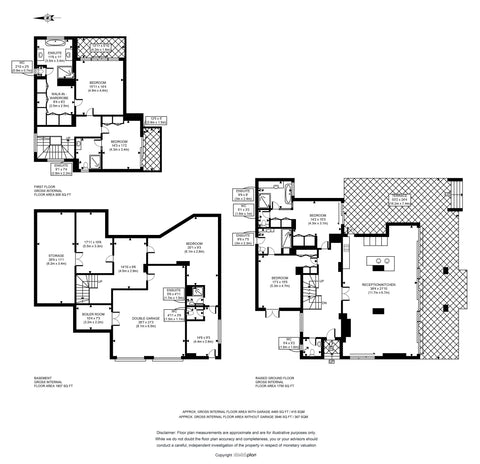 2D Floor Plan from Sketch Provided (3000 - 3501 - sq ft | 300  - 351 sq Metres)