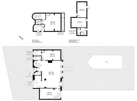 2D Floor Plan from Sketch Provided (2501 - 3000 sq ft | 251 - 300 sq Metres)