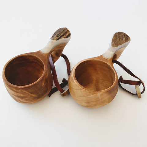 drinking cup handmade kuksa birch expresso coffe cup mug scandicraft finland bushcraft camping hunting shot glass birch cup