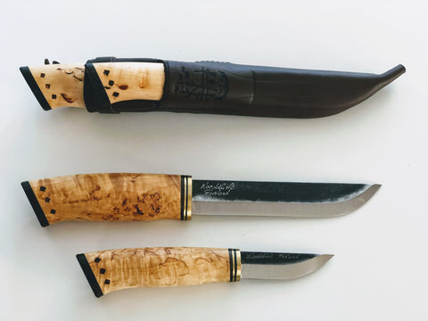 Combo knife, Scandicraft Finland, bushcraft knife, fixed blade knife, full tang knife, scandinavian knife, puukko knife, Survival knife, outdoor knife, handmade knife, Camping knife, Hunting knife, Carbon steel blade, Finnish knife,