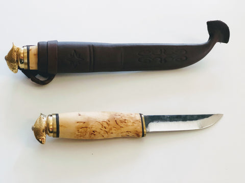 Scandicraft Finland, bushcraft knife, fixed blade knife, full tang knife, scandinavian knife, puukko knife, Survival knife, outdoor knife, handmade knife, Camping knife, Hunting knife, Carbon steel blade, Finnish knife,