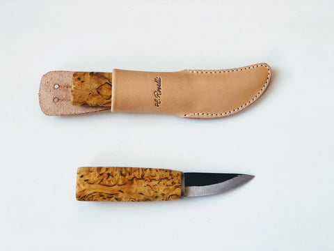 60mm Handmade Classic Bushcraft Carving Knife -H. Roselli