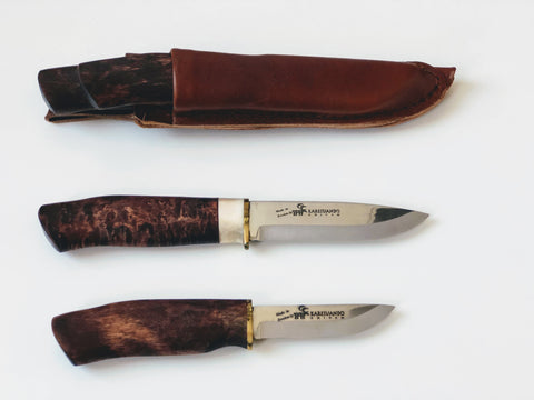 Scandicraft Finland, Stainless knife, bushcraft knife, fixed blade knife, full tang knife, scandinavian knife, puukko knife, Survival knife, outdoor knife, handmade knife, Camping knife, Hunting knife, Carbon steel blade, Swedish knife,