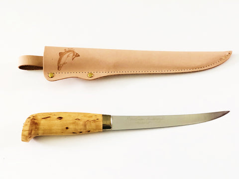 Stainless Fillet Knife Birch Handle 160mm