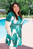 Shady Palms Dress - S-3XL