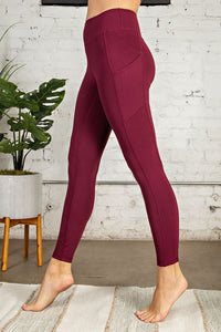 Burgundy Beast Active Leggings