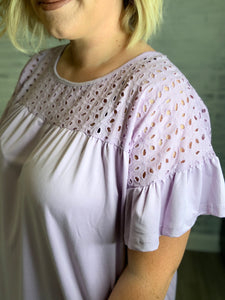 Lilac Blooms Top - S-3XL