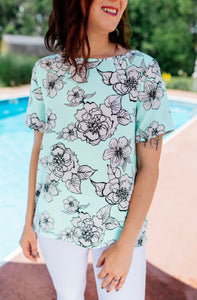 Linda Blossom Top - Mint