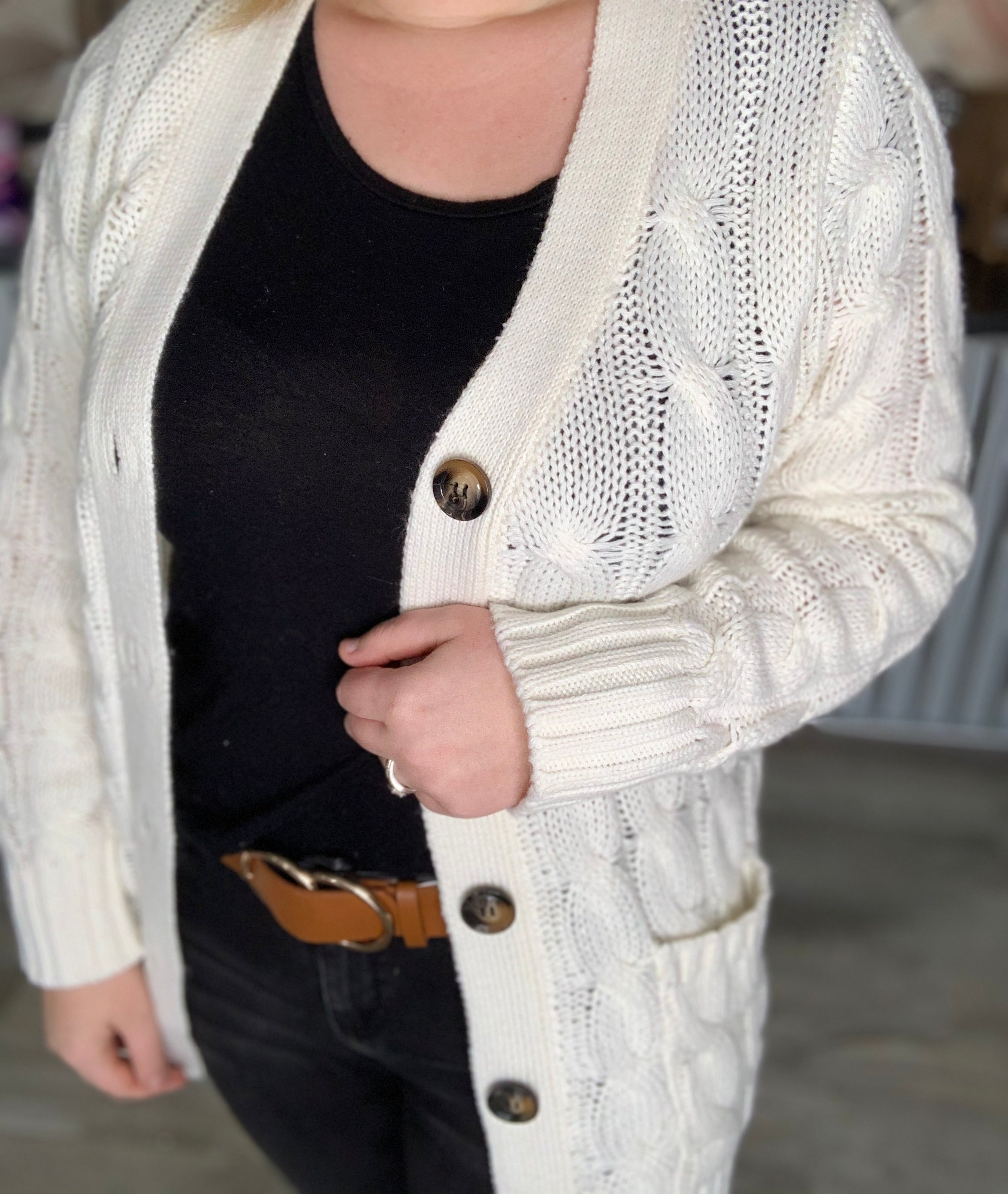 White Winter Cardigan