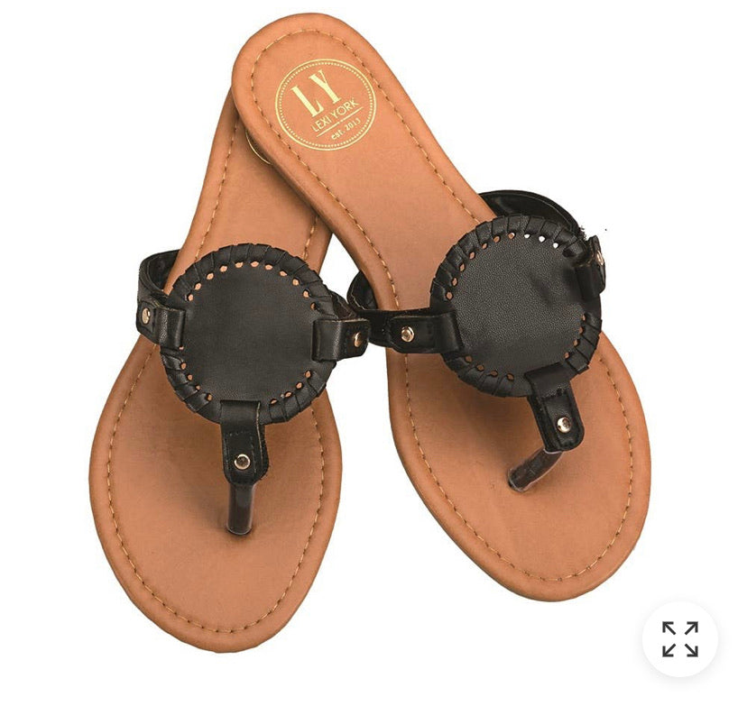 Black Circled Sandal