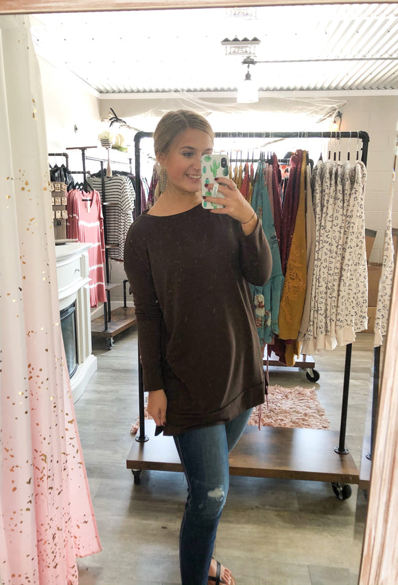 Teagan Tunic - Brown - S-3XL