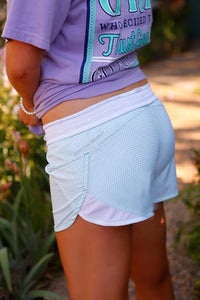 Jadelynn Brooke Mint Gingham Active Shorts