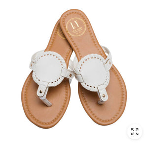 White Circled Sandal
