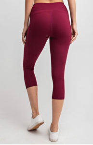 Carpi Burgundy Beast Active Leggings