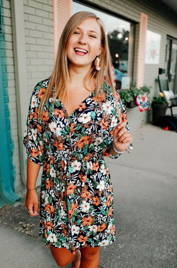 Flourishing Floral Dress
