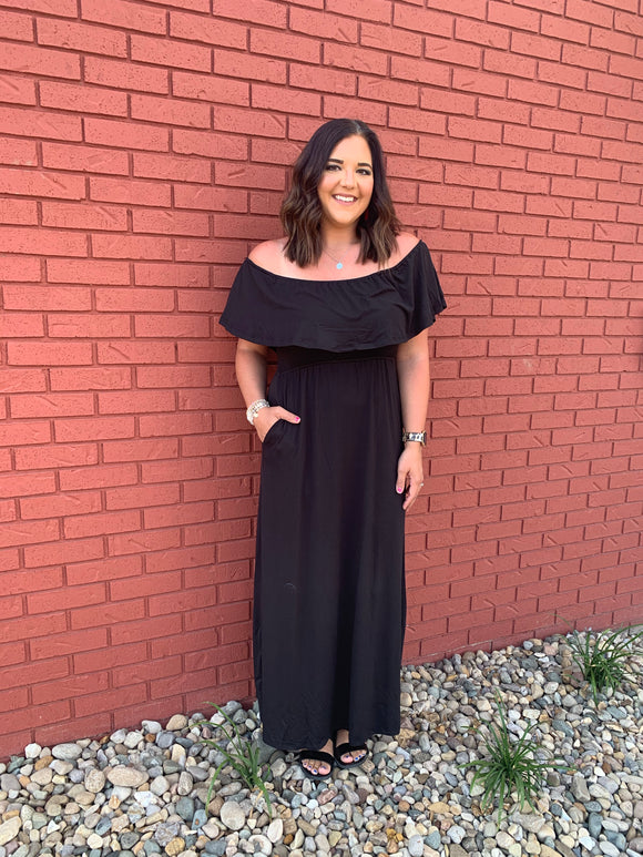 Jetty Black Maxi Dress