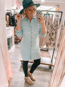 Dim Denim Tunic - S-3XL