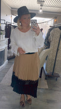 Caramel Pleated Skirt