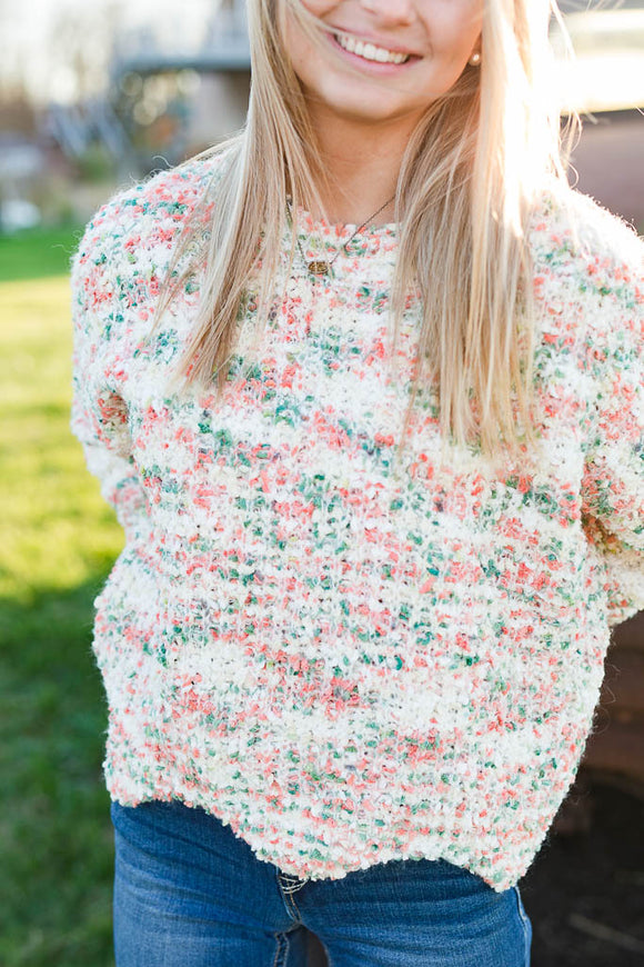 Festive Confetti Cropped Sweater