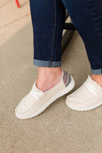 Gypsy Jazz Slip Ons - Cream
