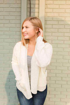Nora Knitted Cardigan - Ivory