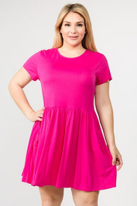 Piper Pink Babydoll Dress - S-3XL