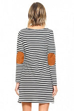 Striped Elbow Patch Tunic/Dress- 2 Colors!