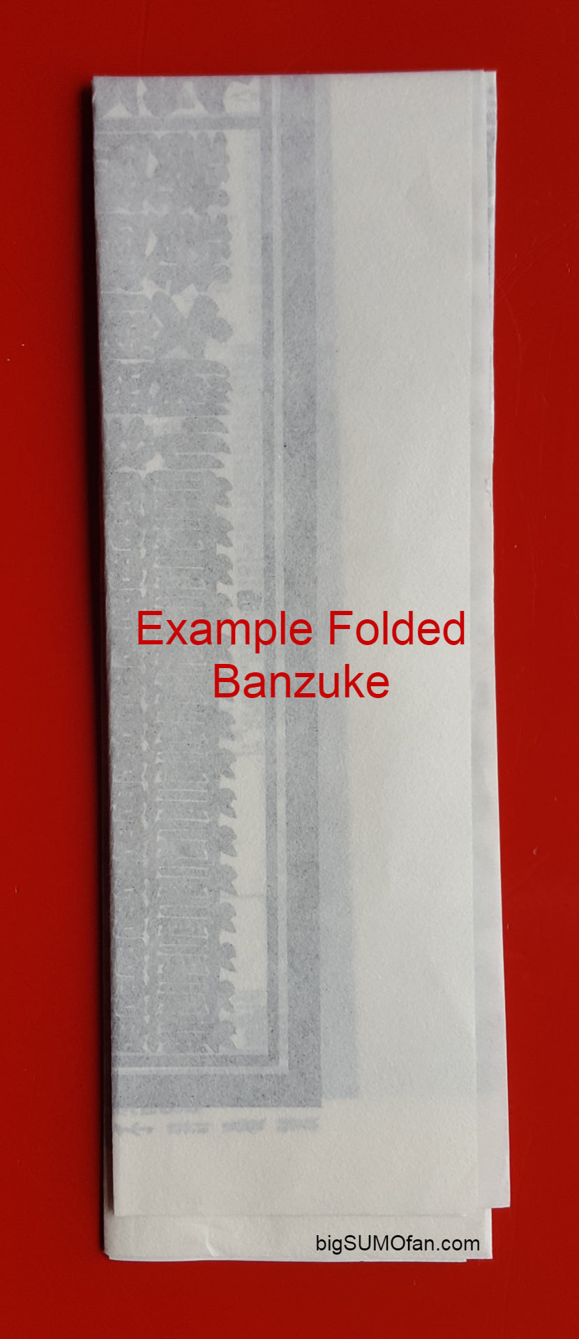 Sumo Banzuke folded example