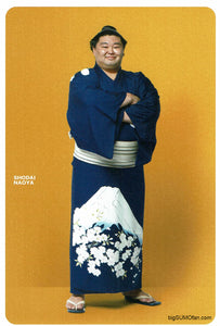 Sumo Postcard Shodai in robe