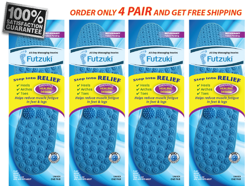 Futzuki Massaging Insoles 4-Pack