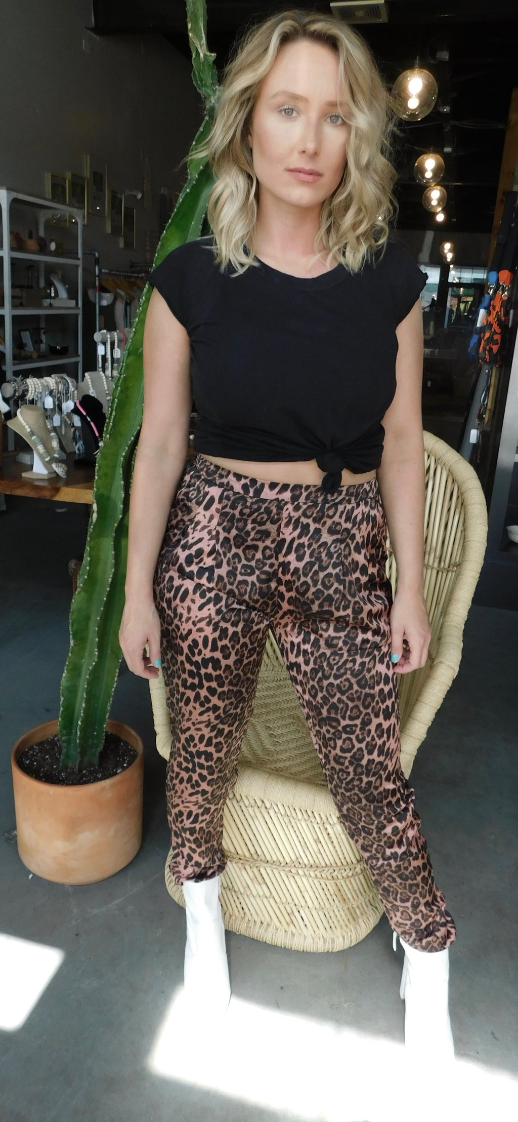 Pink Cheetah Pants