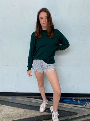 80s Hunter Green Cashmere Sweater