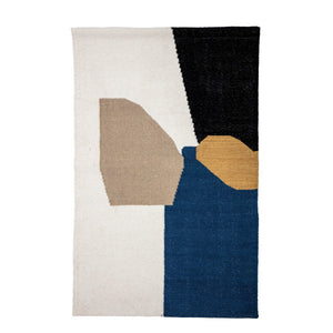 "Abstract 56""H Wool & Cotton Blend Woven Wall Hanging with 2 Metal Sawtooth Hangers"