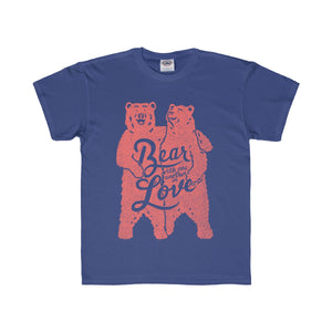 Bear With One Another Kids Tee (Pink)