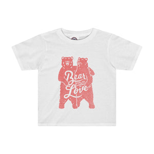 Bear with One Another (Pink) Toddler Tee