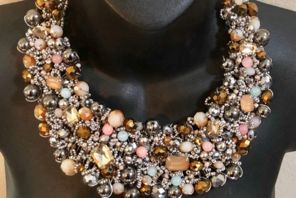 Beaded Statement Necklace - Celi's Secret
