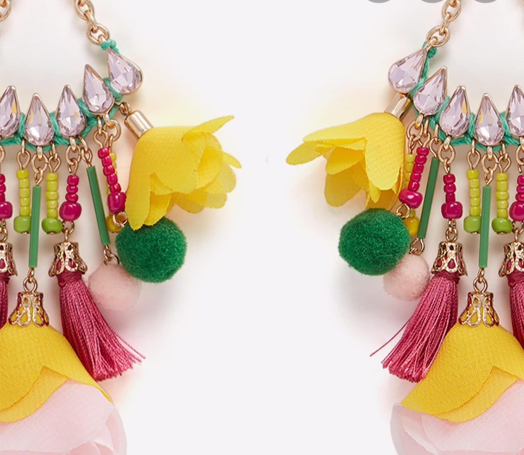 Beautiful multicolored earrings - Celi's Secret