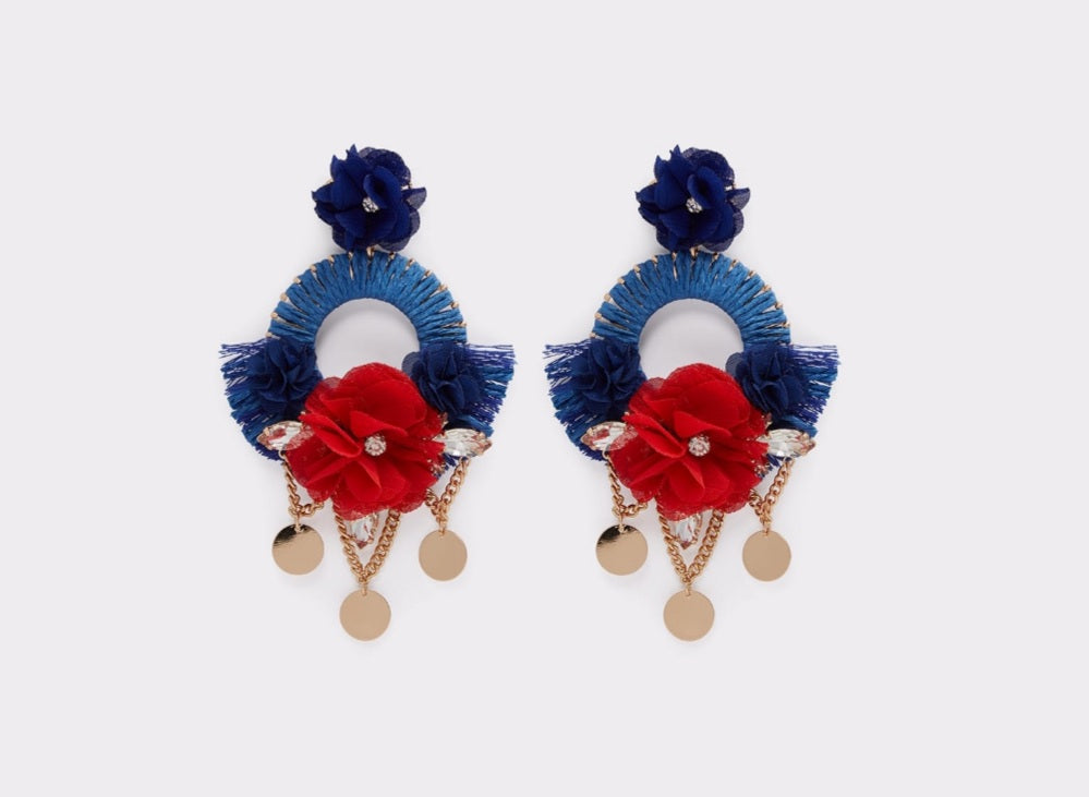 Blue & Red Earrings - Celi's Secret
