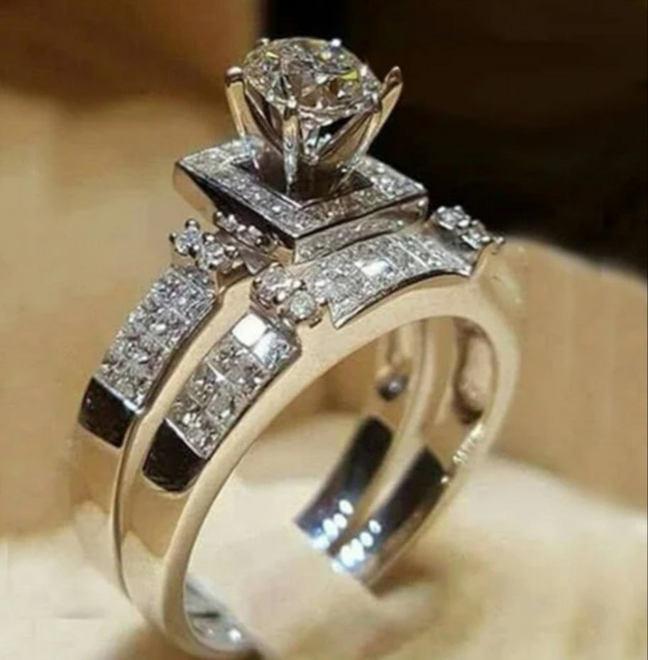 2pc set diamond ring - Celi's Secret