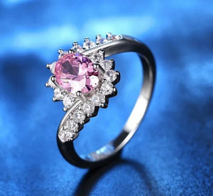 Brilliant White Gold Plating Cz Wedding Ring - Celi's Secret